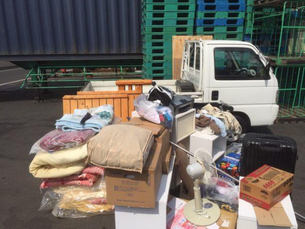 大量の粗大ごみをお得に処分できる料金プランの「軽トラック積み放題」プランで実際に回収した粗大ごみおよび不用品の物量